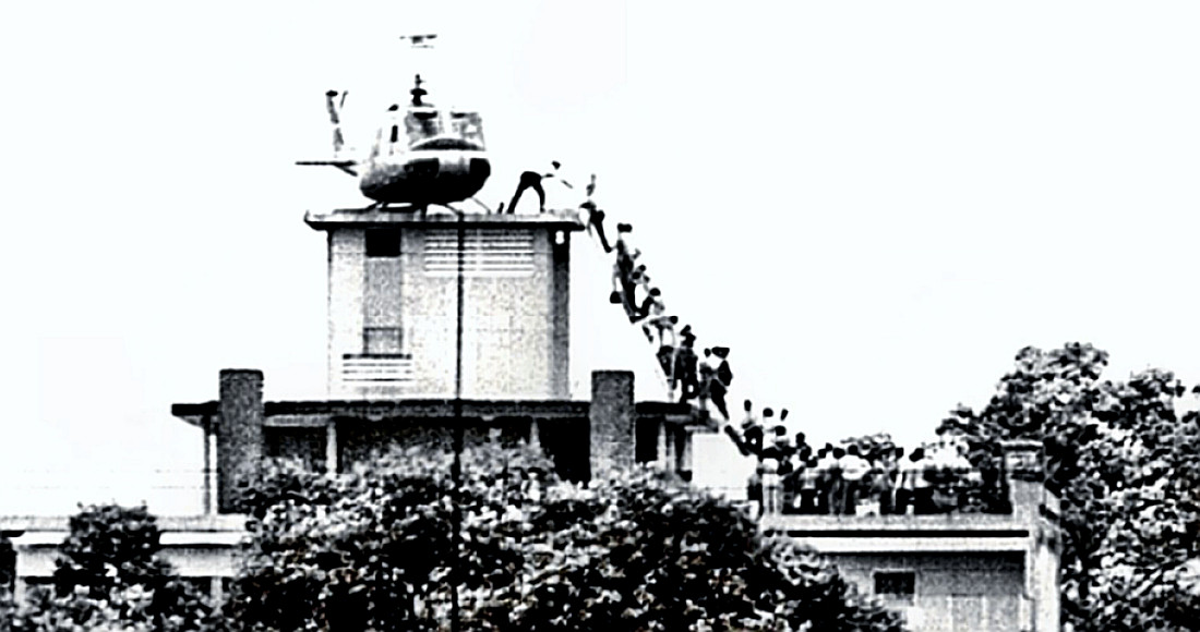 Saigon helo evacuation near US Embassy