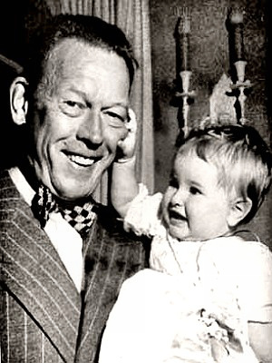 Fred Allen with baby Portland Mason