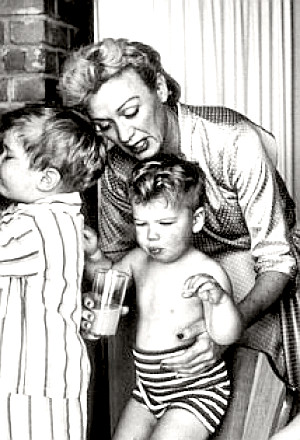 Actress Eve Arden with kids
