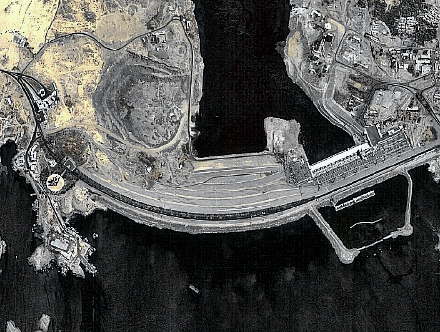 Egypt's Aswan High Dam - satellite image