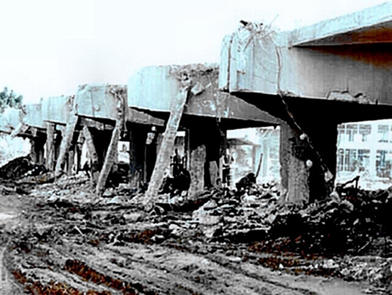 Beirut barracks destruction