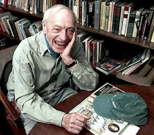 Saul Bellow laughing