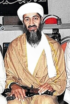 Bin Laden with weapon