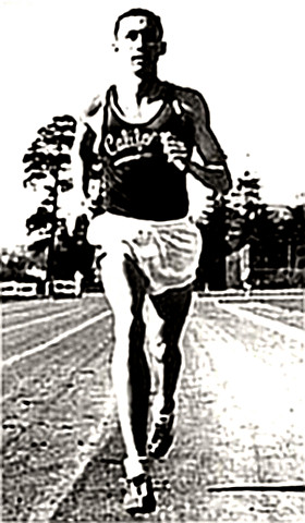 Don Bowden (then) on the track