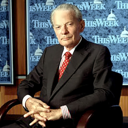 News Anchor David Brinkley