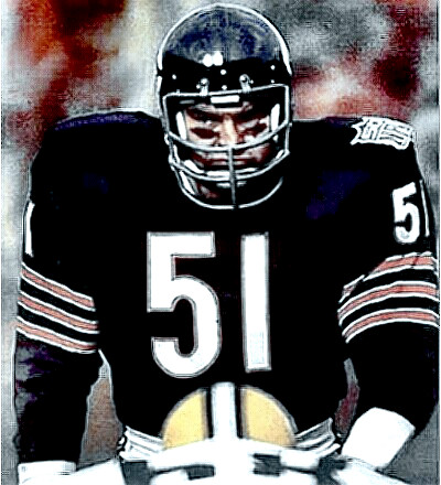Dick Butkus (#51) is waiting for you