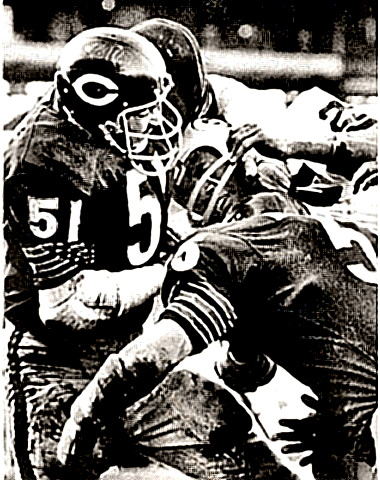 Mr. Butkus trying to remove head of ball carrier