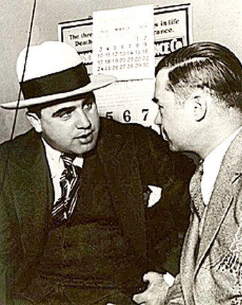 'Scarface' Al Capone with his Lawyer