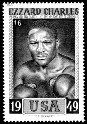 Boxing Champ Ezzard Charles' stamp