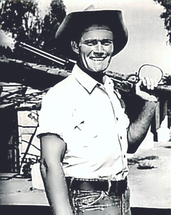 Actor Chuck Connors as The Rifleman