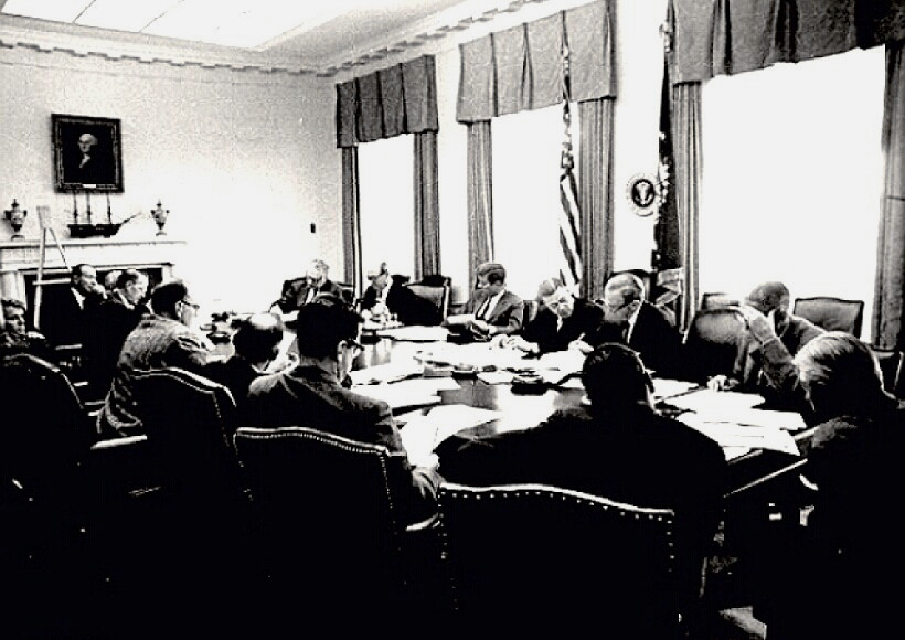 Cuban Missile Crisis Meeting in White House - 10/29/1962