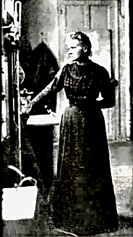 Nobel Scientist Marie Curie in the lab
