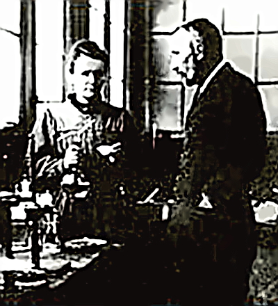 Scientists Marie and Pierre Curie