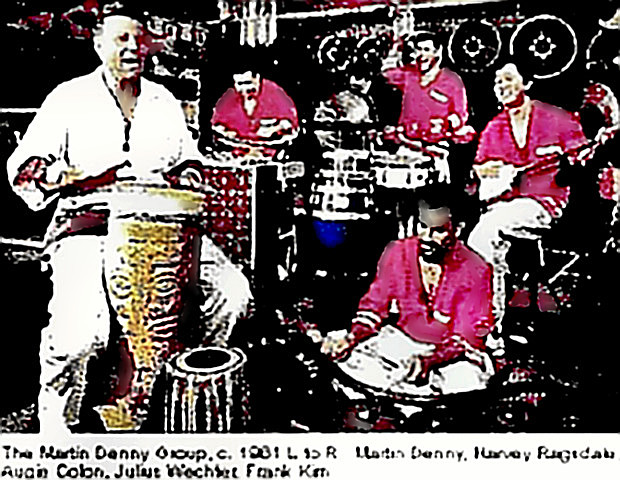 Martin Denny with his group