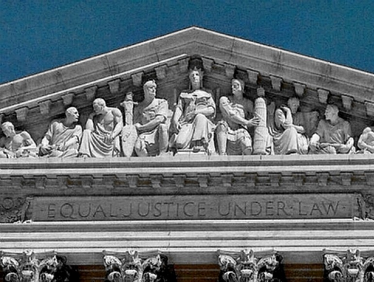 Equal Justice Motto on US Supreme Court