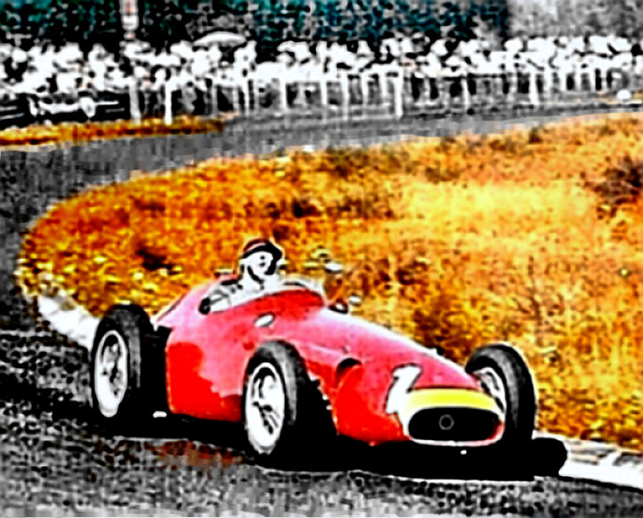 Juan Manuel Fangio in the German Grand Prix of 1957
