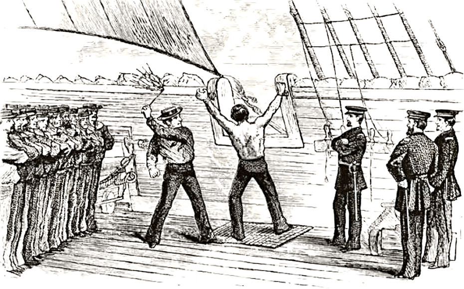 flogging on a navy ship