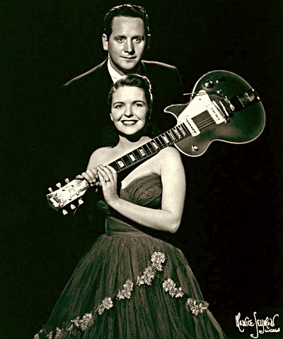 Singer Mary Ford with Les Paul