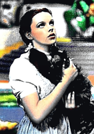 Actress Judy Garland in Wizard of Oz