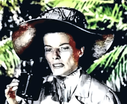 Katharine Hepburn in The African Queen