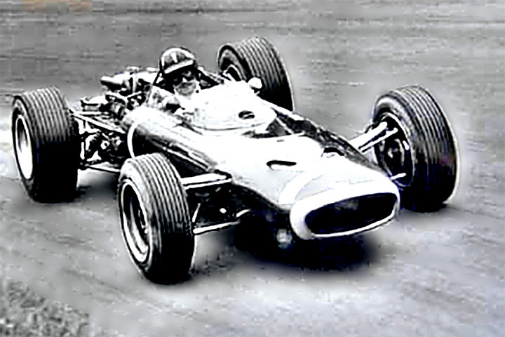 F-I Champ Auto Racer Graham Hill in a Lotus