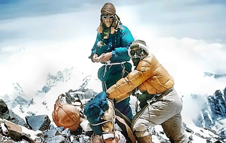 Sir Edmund Hillary and Tenzing Norgay at the Top of the World