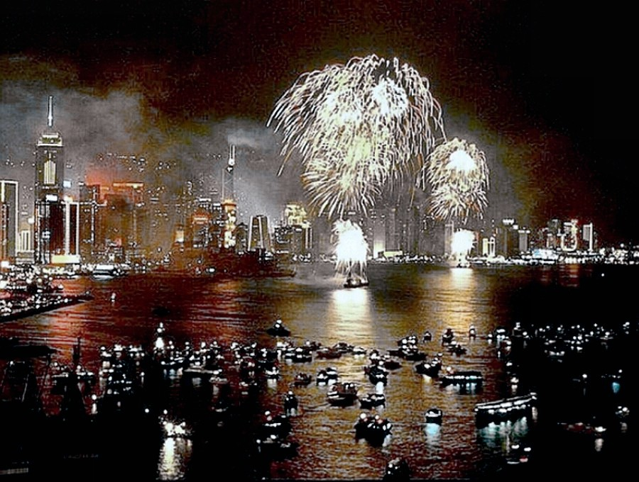 Hong Kong New Years fireworks