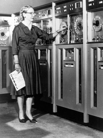 Grace Hopper working on Univac