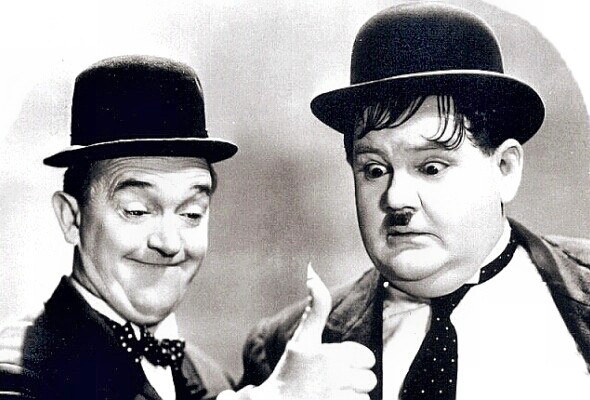 Stan Laurel and Oliver 'Babe' Hardy