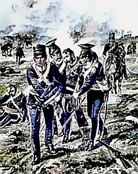 Light Brigade (13th Light Dragoons) Lance-Sergeant (later Captain) Joseph Malone awarded Victoria Cross - helping carry a mortally wounded Captain Webb from the field at Balaclava