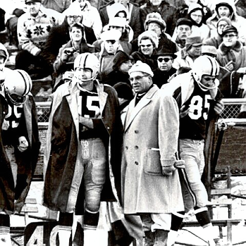 Coach Vince Lombardi at work