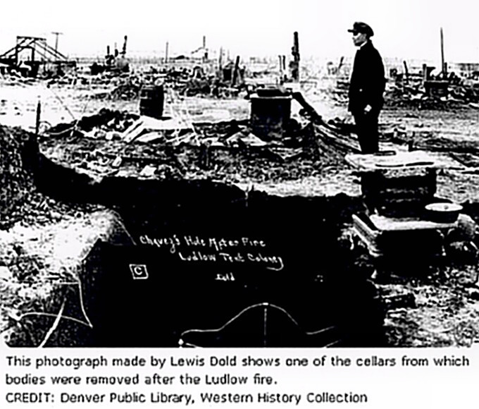Ludlow, Colorado - Guard destruction of camp