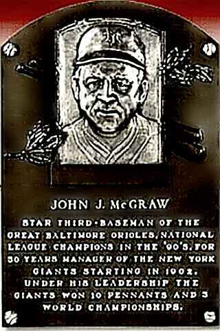 John McGraw's Hall of Fame plaque