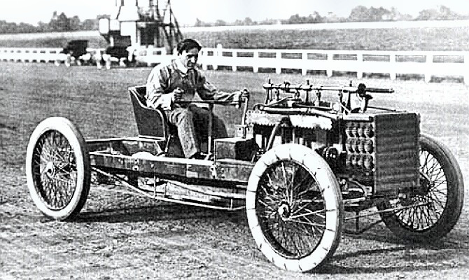 Driver Barney Oldfield