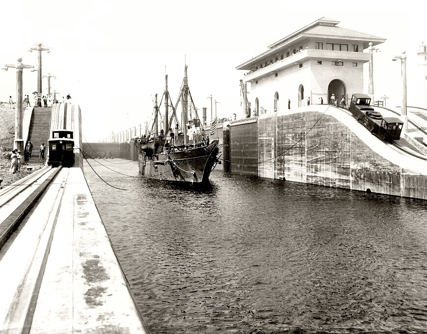 The Panama Canal - Historic Photo