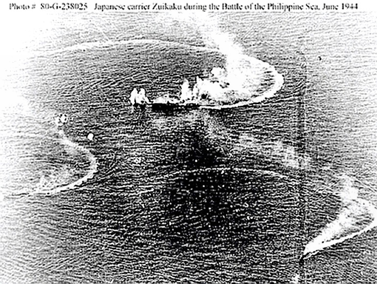 Philippine Sea - Japanese carrier attacked