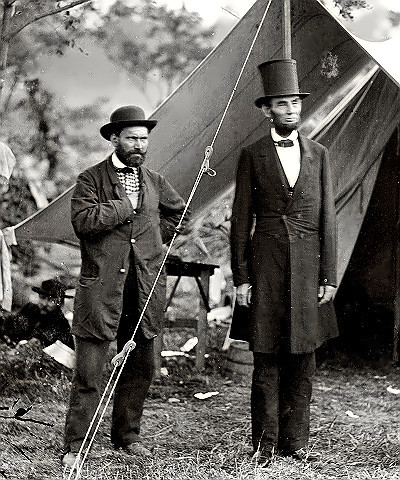 Secret Service Allan Pinkerton with Lincoln