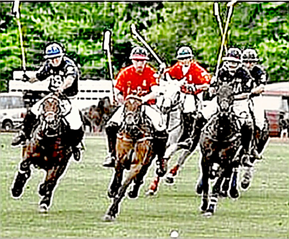 polo riders playing a game