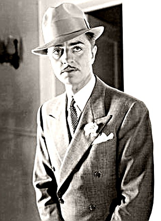 Actor William Powell as the Thin Man