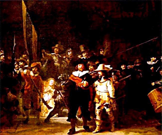 Artist Rembrandt van Rijn's - Night Watch