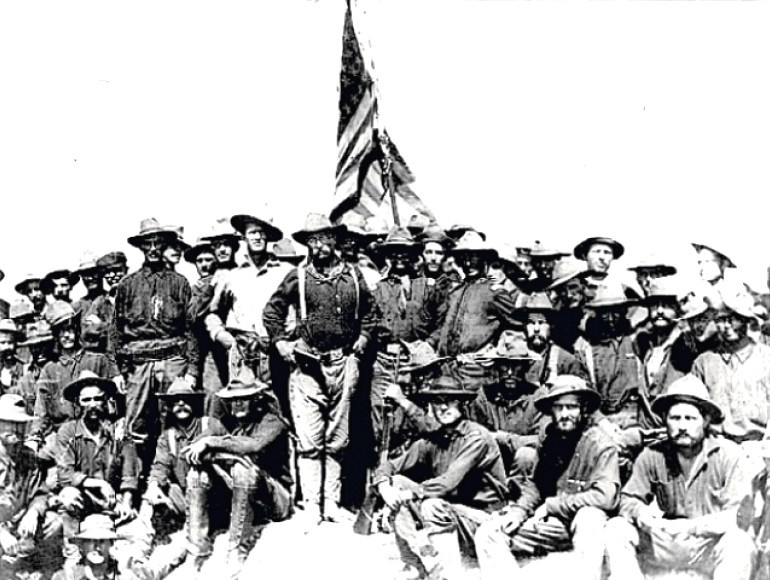 Teddy Roosevelt with his Rough Riders