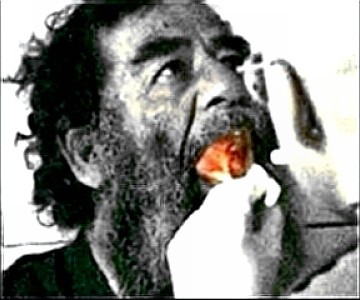 Saddam mouth exam