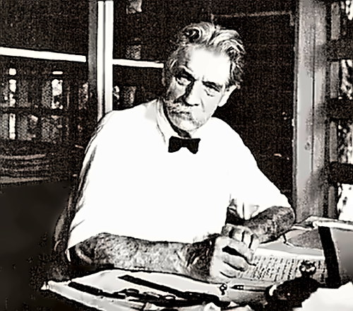 Renaissance Man Albert Schweitzer at his desk