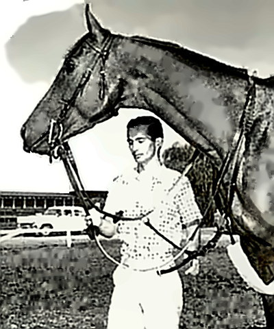 Jockey Bill Shoemaker with Swaps