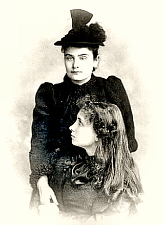 Anne Sullivan teaching Helen Keller