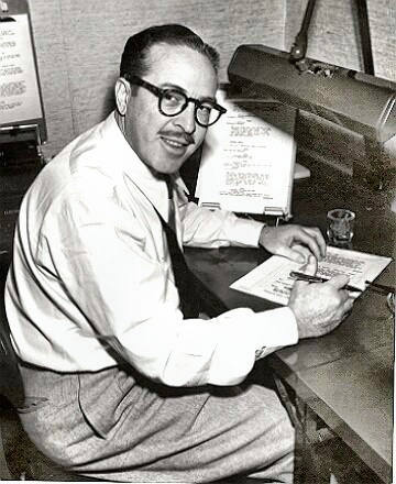 Writer Dalton Trumbo at work