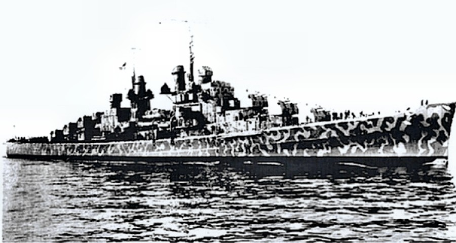 USS Juneau (CL-52) just before she was sunk