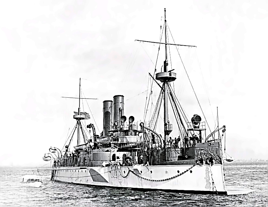 USS Maine moored