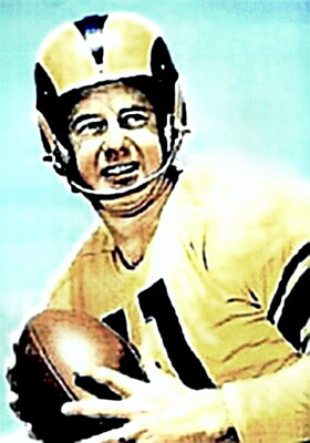 Norm VanBrocklin in Rams Uniform