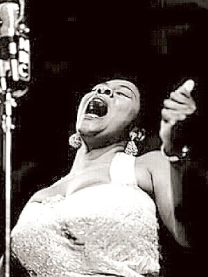 Dinah Washington belting out a blues number